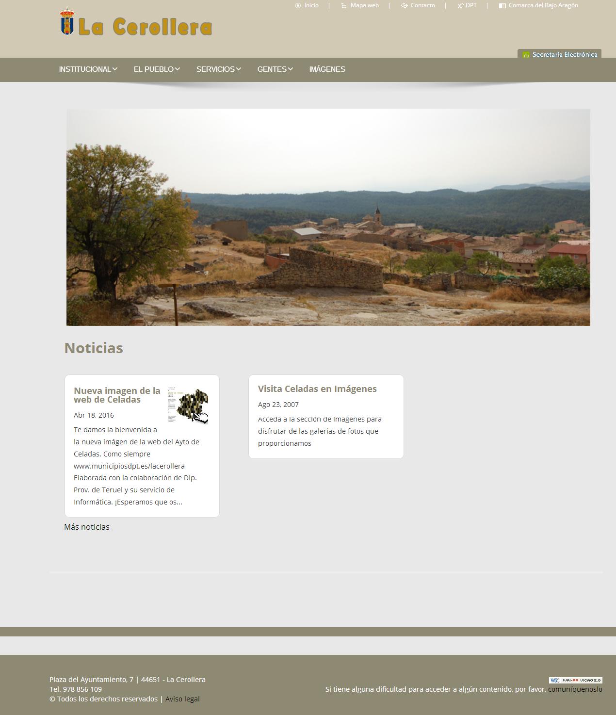 Nueva imagen de la web de La Cerollera